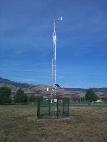 Photo of the actual weather station